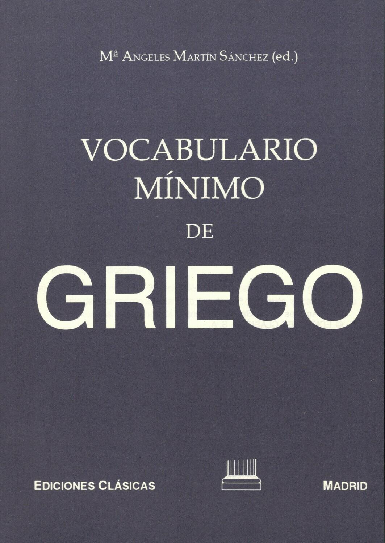 VOCABULARIO MINIMO DE GRIEGO