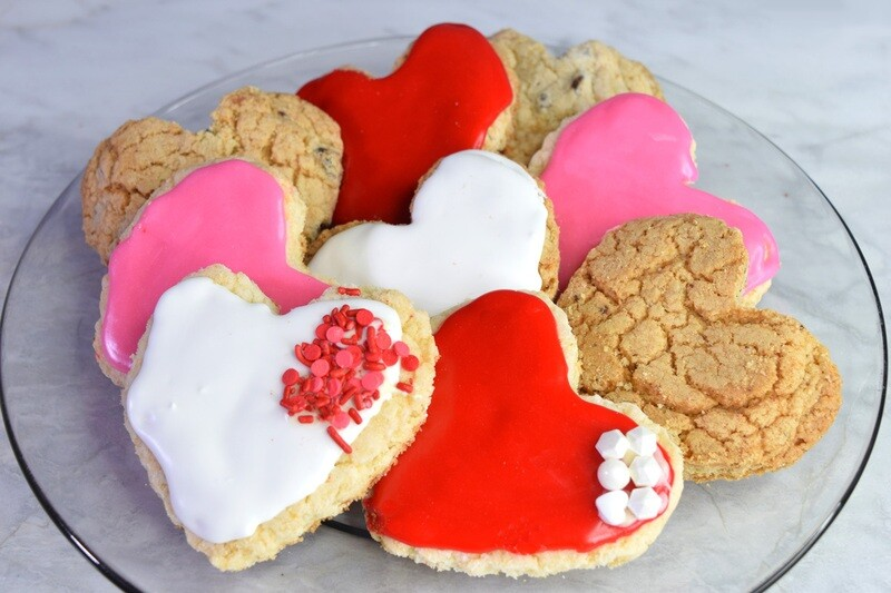 Heart Shaped Cookies - Box of 12