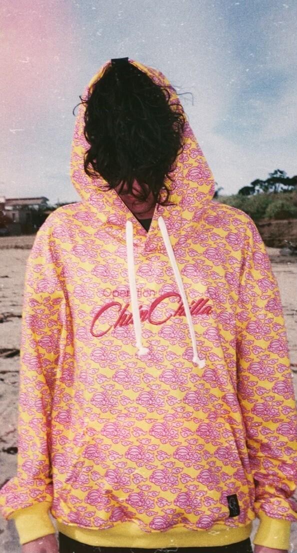 Auspicious Chiin Chilla Cloud Hoodie (Pink)