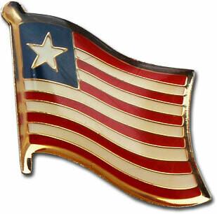 Liberian Flag Lapel Pin