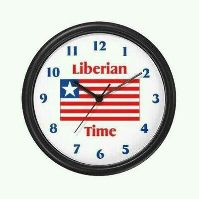 Liberian Time Wall Clock