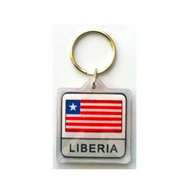 Liberian Flag Key Chain