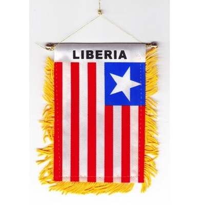 Liberian Car Mirror Flag