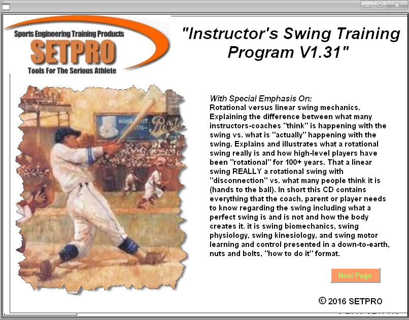 SETPRO Swing Instructor Program V1.31