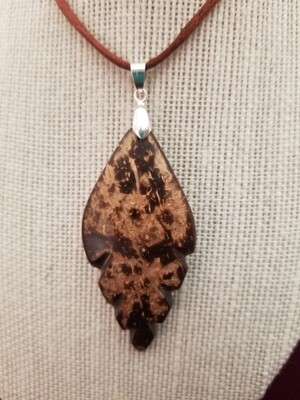 Coconut Large Leaf Necklace