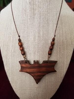 Wooden Bat Necklace