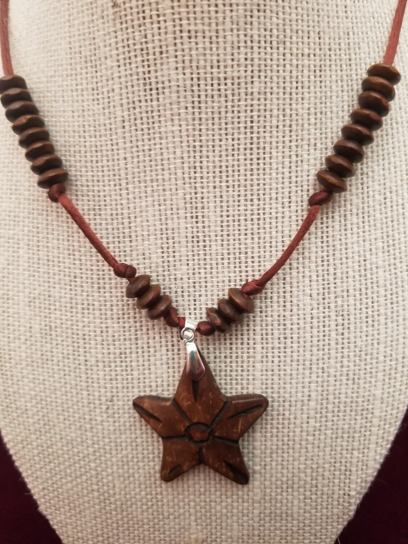 Coconut Star Necklace Earrings set
