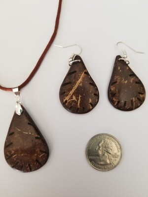 Coconut Paddle Necklace Earring Kit