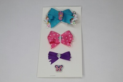 Connect A Bow-Blue/Pink/Purple
