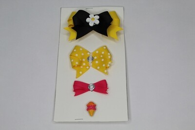 Connect A Bow-Yellow/Black/Pink