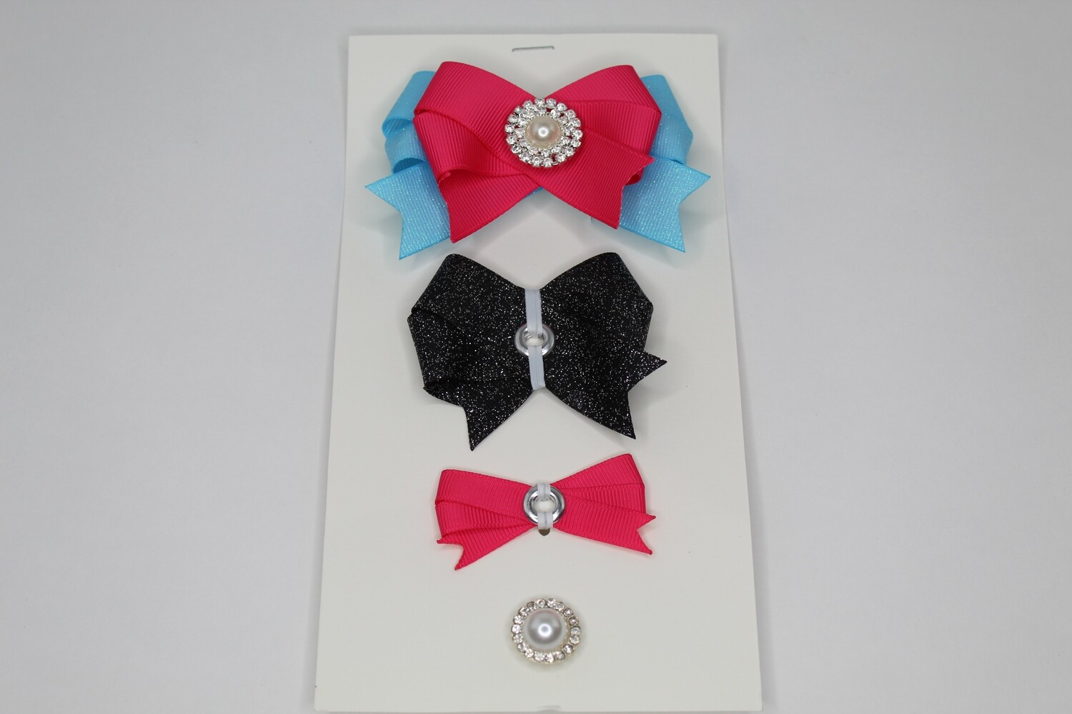 Connect a Bow-Pink/Black/Teal