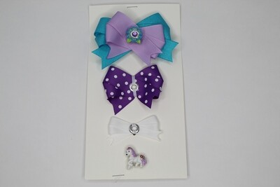 Connect a Bow-Teal/Purple/Violet