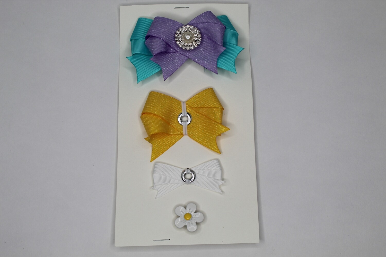 Connect a Bow-Purple/Yellow/White/Teal