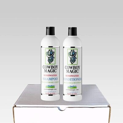 Cowboy Magic Rosewater Shampoo & Conditioner Bundle (473 mL) - All Hair types. Horses, Pets and Humans.