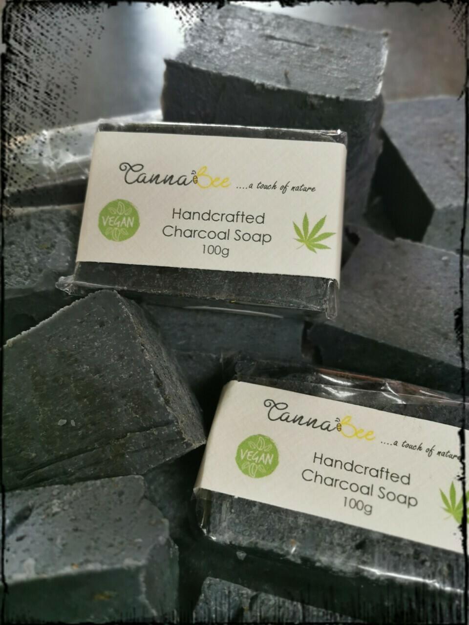 Cannabis Charcoal Soap 100g