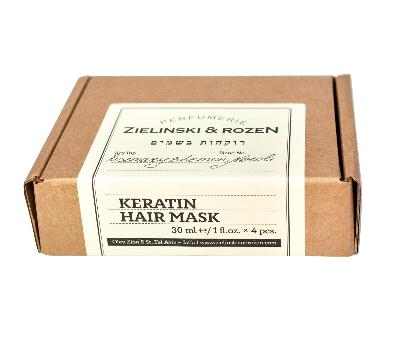 Кератиновая маска для волос Розмарин, Лимон, Нероли  (4*30мл)