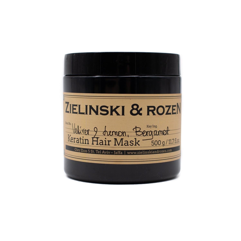 Кератиновая маска для волос Ветивер, Лимон, Бергамот (500мл)