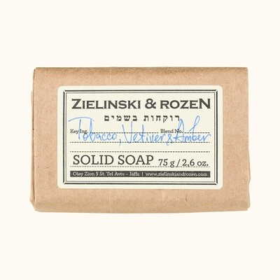 Solid soap Tobacco, Vetiver & Amber  (75 g)