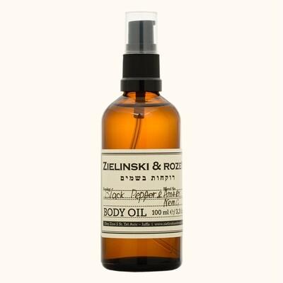 Body oil Black pepper & Amber, Neroli (100 ml)