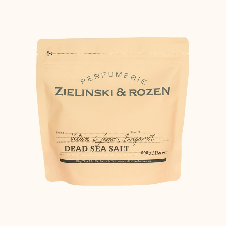 Соль Мертвого моря Ветивер, Лимон, Бергамот (500гр)
