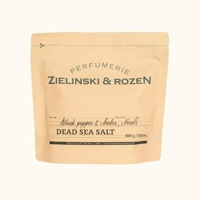 Соль Мертвого моря Черный перец, Амбра, Нероли (500гр)