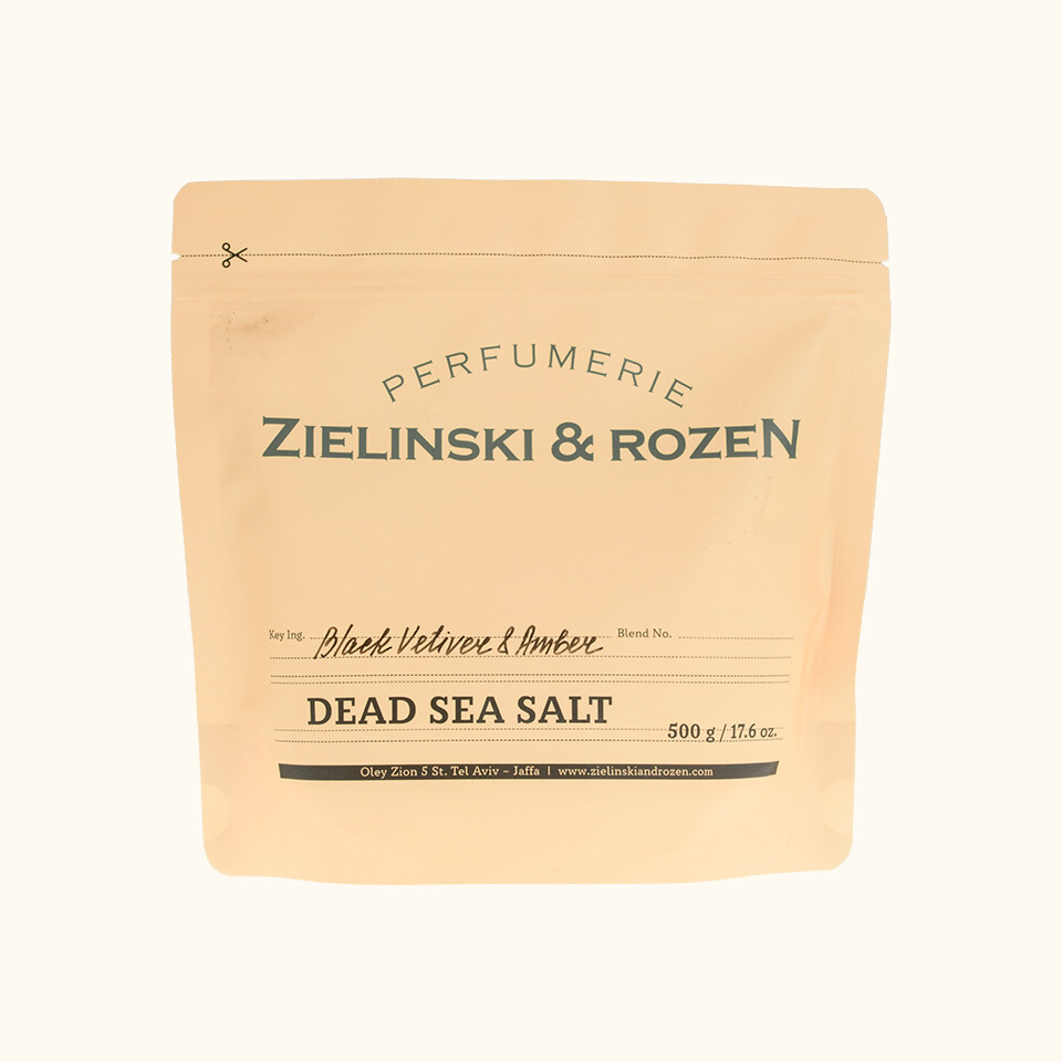 Dead Sea Salts Black Vetiver & Amber (500g)