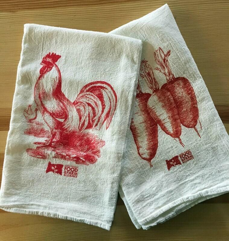 Rooster & Carrots Tea Towels
