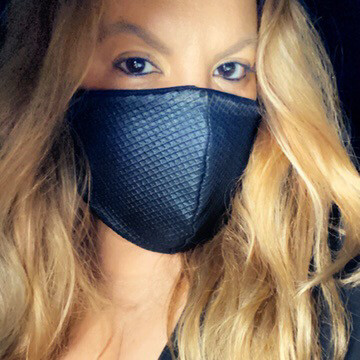 "Black ""Diamond Cut"" Face Mask"