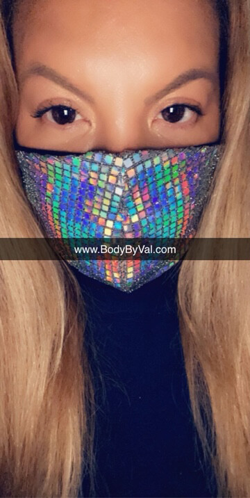"""Body By Val """"Unicorn"""" Collection Mask With Filter Pocket"""