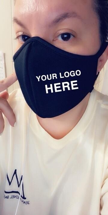 PLACE Your LOGO Black Masks
