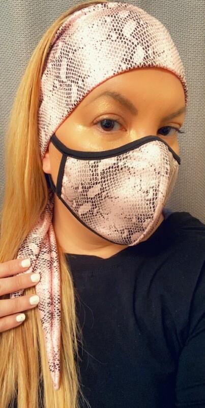 """Headband """"Pink Python"""""""