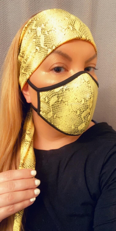 """Headband """"Yellow Python"""""""