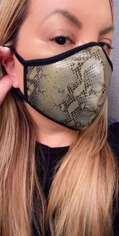 "FaceMask ""Olive Python"""
