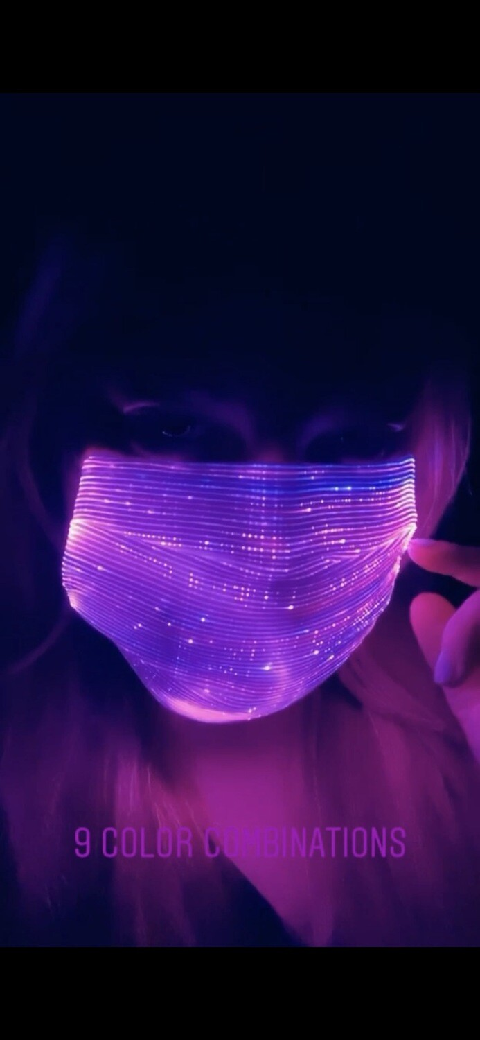 LED LIGHT MASK with 9 Color Combinations With Remote Control