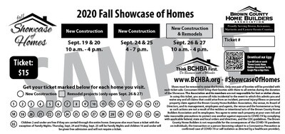Tickets for 2020 Fall Showcase of Homes