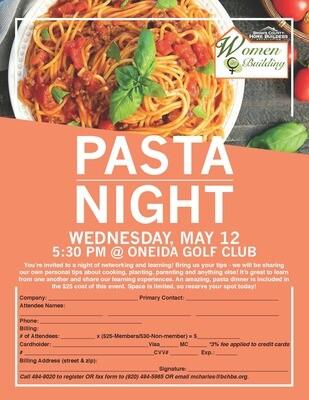 WIB Pasta Night - Member Pricing