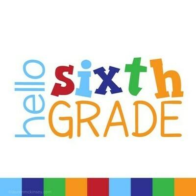 6th grade class dues