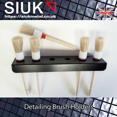 Detailing Brush Holder, Valeting  Van or Wall Mount 20mm Holes. Single.