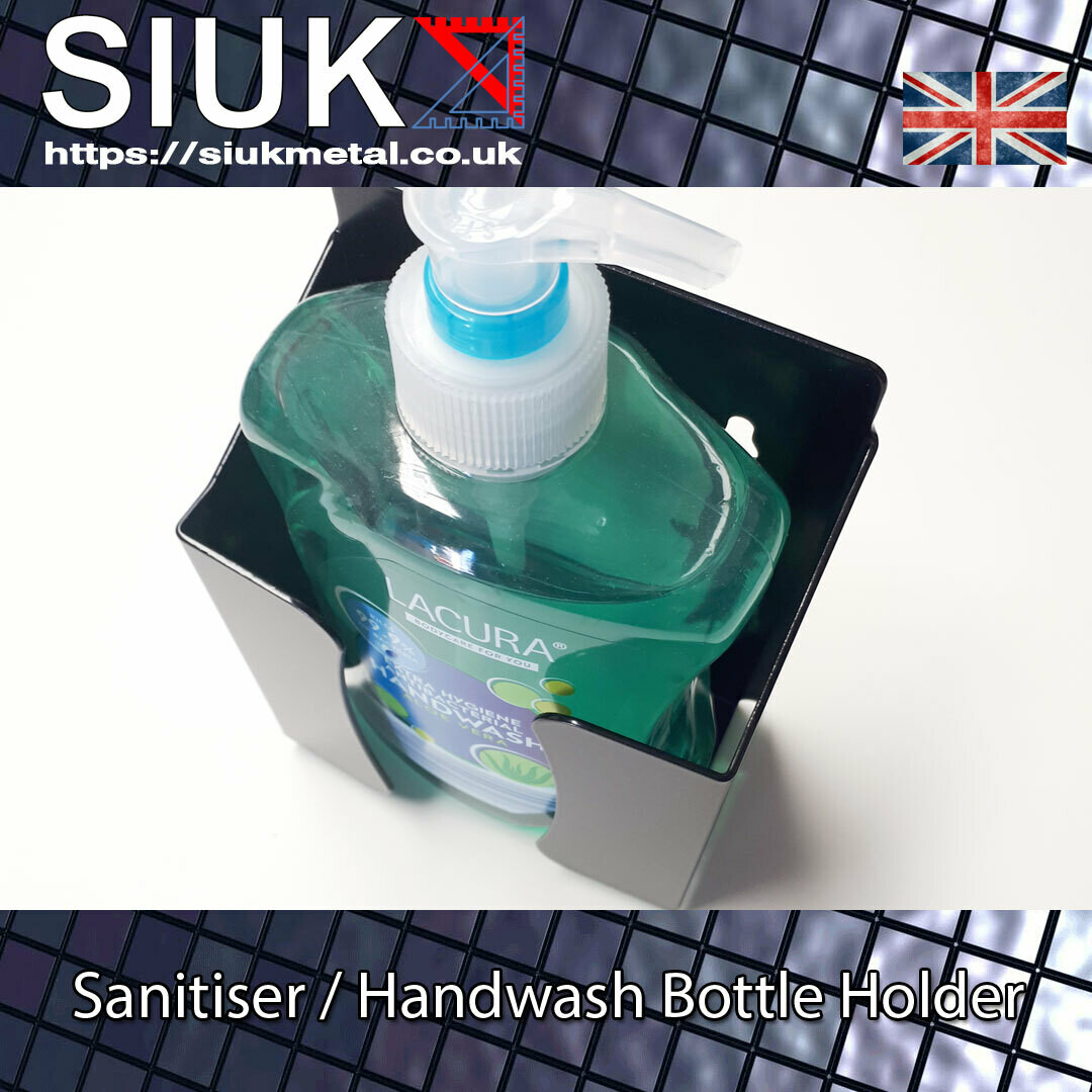 500ml Soap Handwash Sanitizer Pump Bottle Holder Black