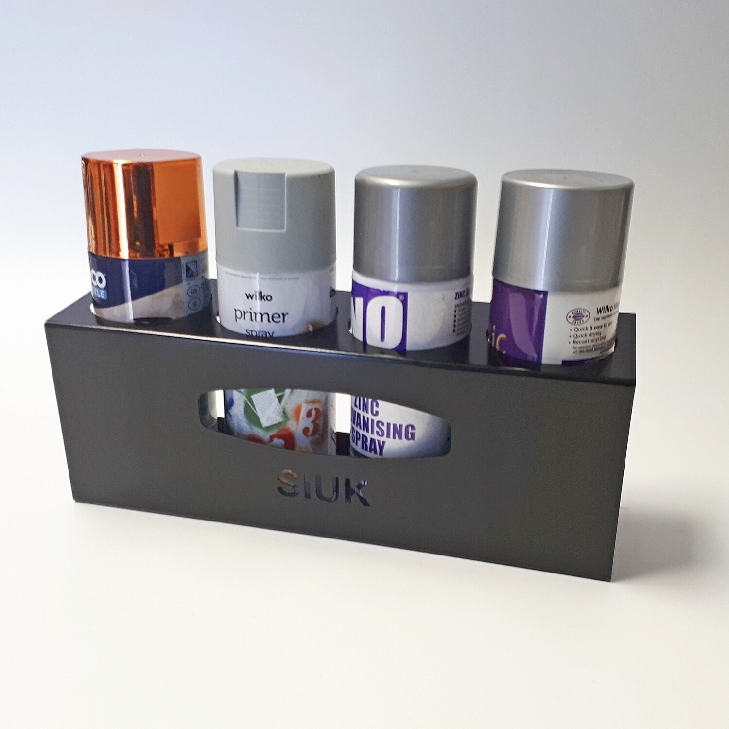 Spray Can Holder (4 Cans) Wall Mount
