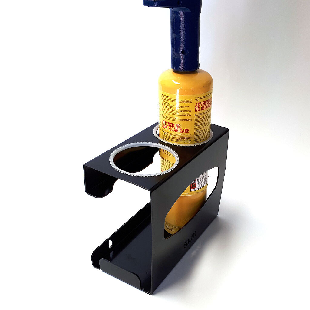 Twin MAPP / MAP Gas Bottle Torch Solder Burner Brazer Wall Mount Plumber Workshop Van