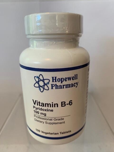 Vitamin B-6 100mg #100 vegetarian tabs