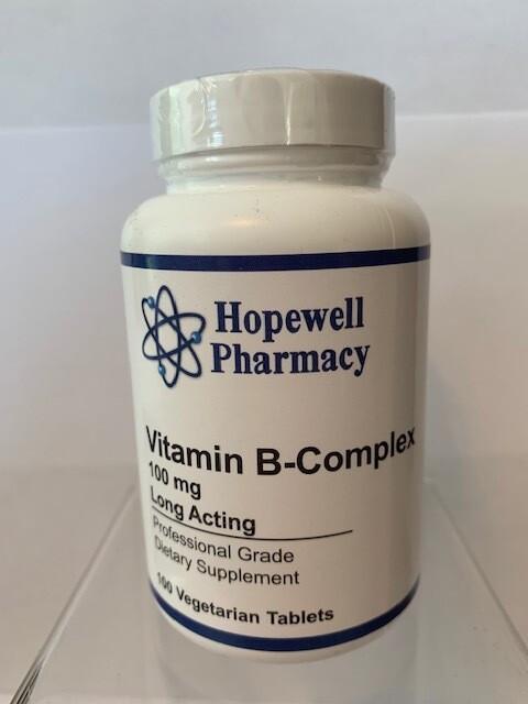 Vitamin B-Complex 100mg #100 vegetarian tabs