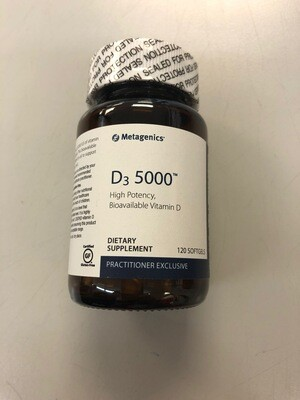 High Potency D3 5000 120ct