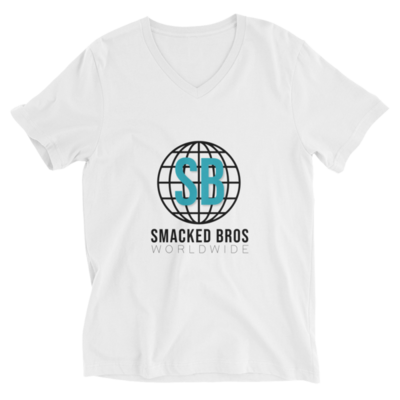 Smacked Summer White V-Neck Tee