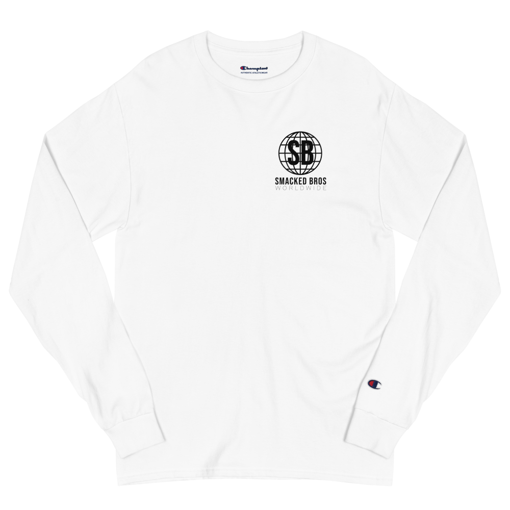 Men's Champion Long Sleeve Shirt with Smacked Bros Worldwide Logo