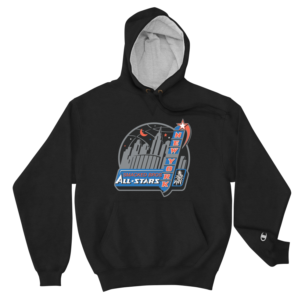 Navy New York All Stars Smacked Bros Champion Hoodie