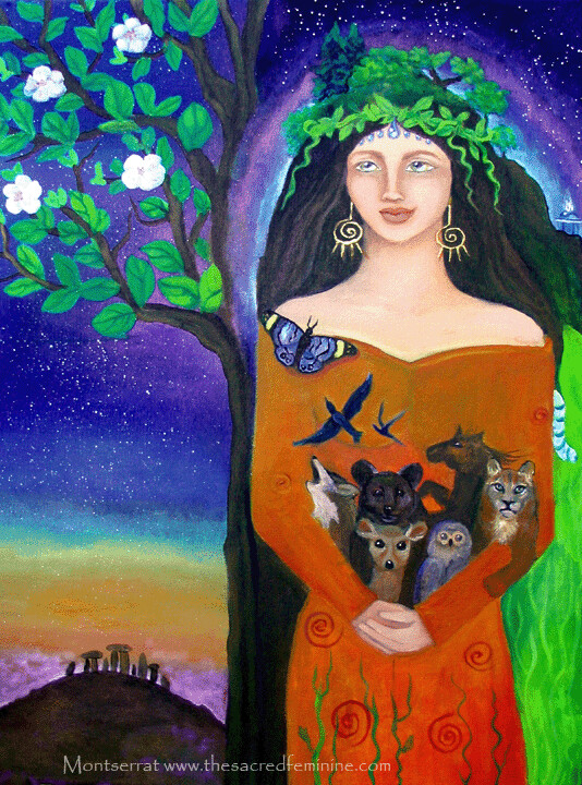 Lilith Post Card by Montserrat