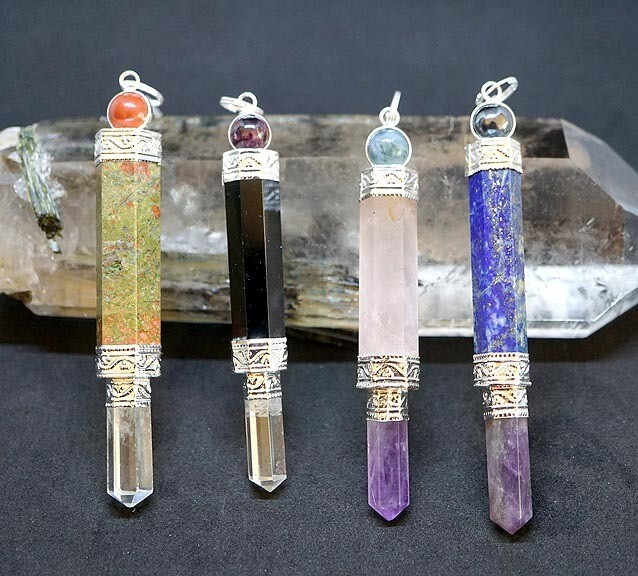 Gemstone Wand Pendulums
