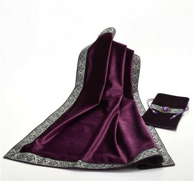 Purple Tarot Bag with matching table cloth